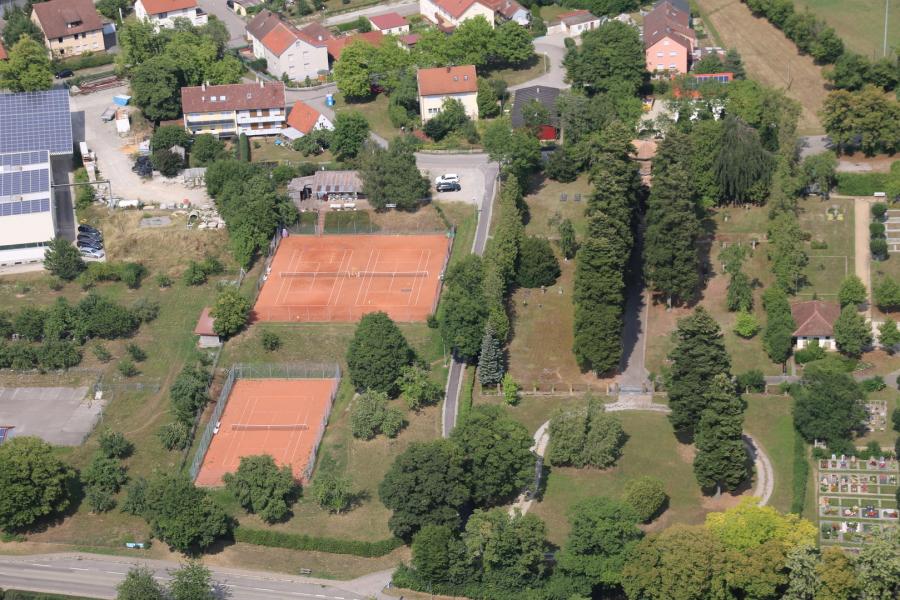 Anlage TC Jagst Drohnenfoto von oben