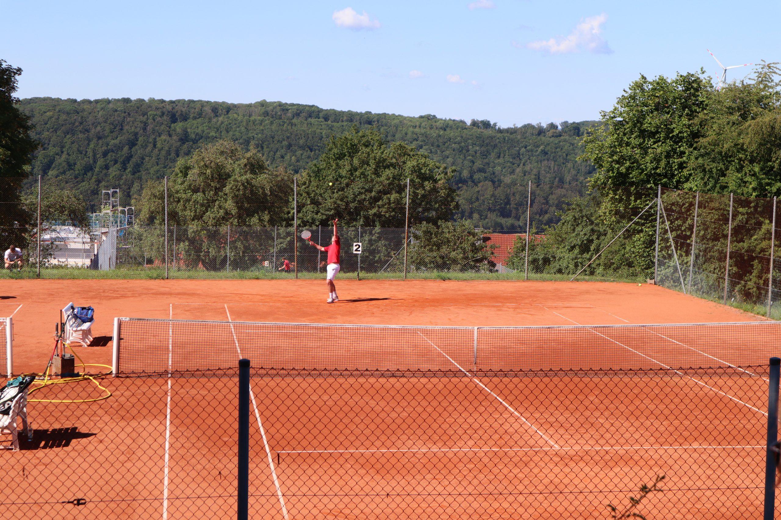 Tennisplatz Spieler